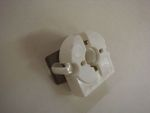 BUILT IN 3/4 ROUND, SPRING LOADED FL. LAMP SOCKET